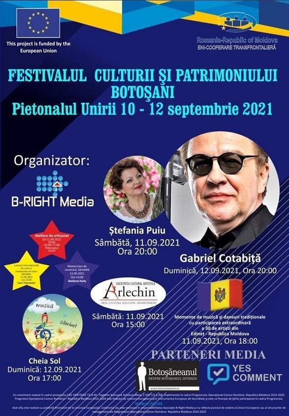 Gabriel Cotabiță vine duminică la Botoșani cu un recital în cadrul Festivalului Culturii și Patrimoniului Cultural