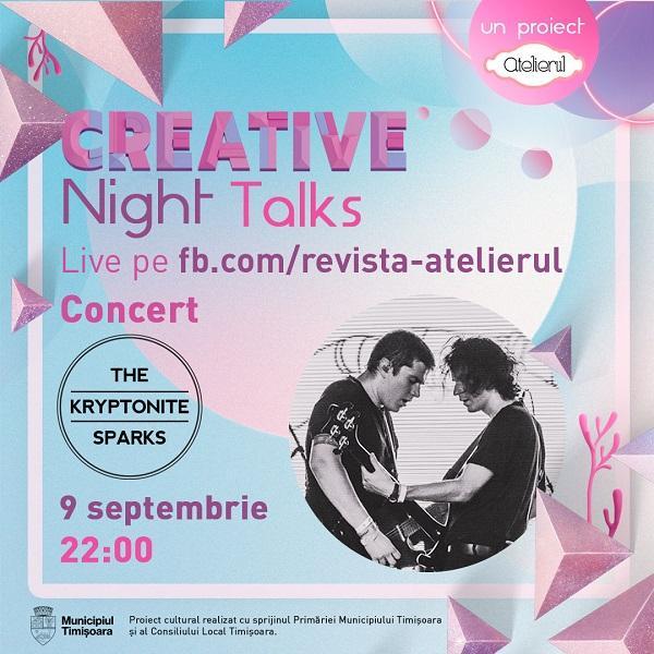 Un nou sezon de conferințe online Creative Night Talks începe pe 9 septembrie