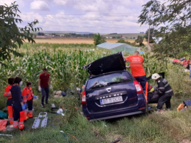 Accident grav la Podeni în apropiere de Negrești