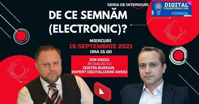 LIVE  DE CE SEMNĂM ELECTRONIC
