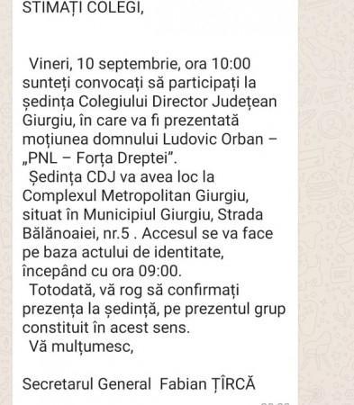 Exluvisv Orban vine vineri la Giurgiu Liberalii giurgiuveni încă se întreabă Noi pe cine votăm