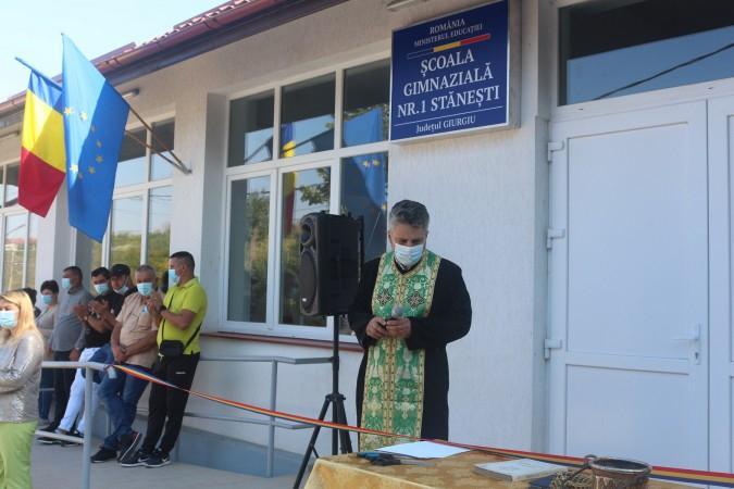Una dintre cele mai moderne şcoli din judeţul Giurgiu a fost inaugurată la Stăneşti