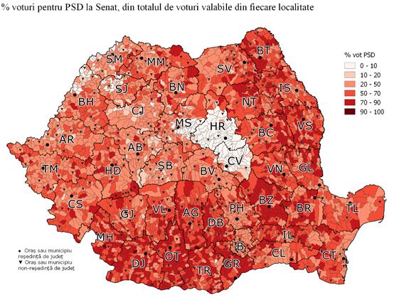 Cele mai detaliate harti politice dupa alegerile parlamentare 2016