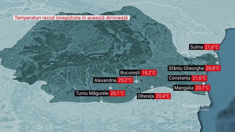 România împărţită între două anotimpuri Frig în vest temperaturi record în sud
