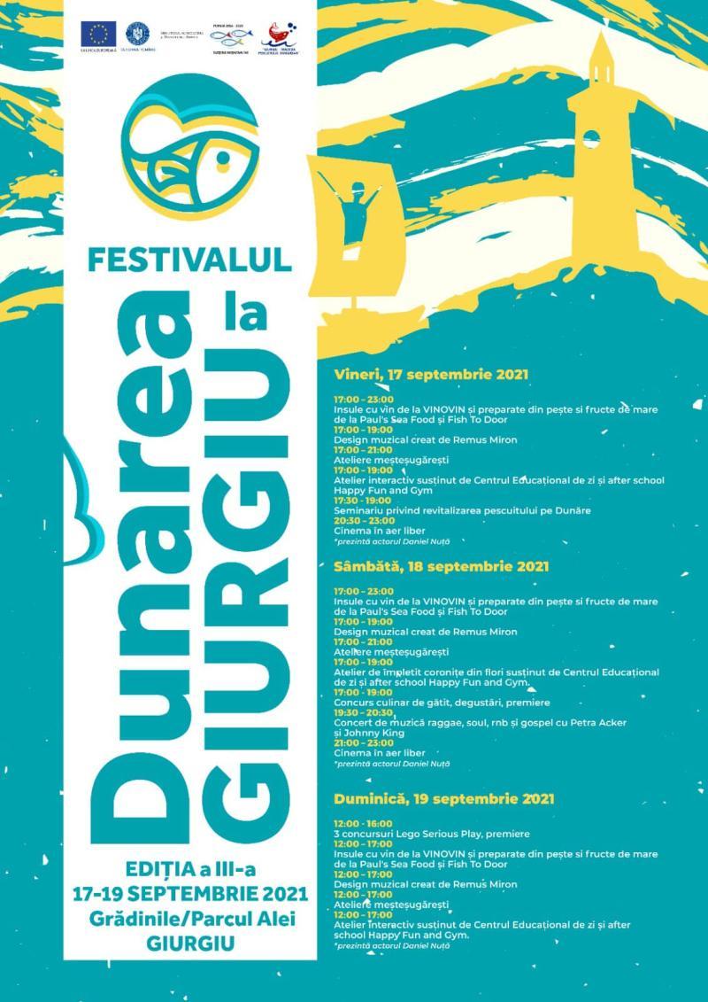 Ultimul weekend al Festivalului Dunărea la Giurgiu se anunță plin de surprize plăcute pentru giurgiuveni
