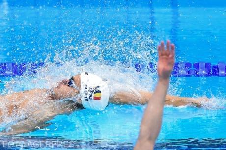 Robert Glință un nou record național la 50 m spate