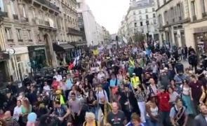 VIDEO  Francezii nu sunt impresionați al zecelea weekend consecutiv de manifestaţii împotriva vaccinării şi paşaportului sanitar
