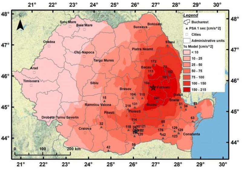A apărut un nou model de predicție a mișcării solului pentru zona seismică Vrancea