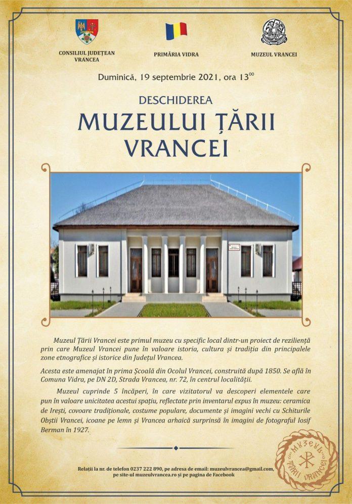 Muzeul Țării Vrancei se deschide mâine la Vidra