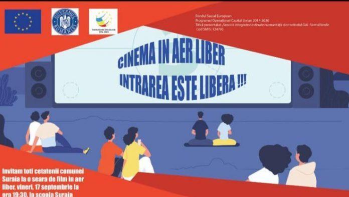 Locuitorii comunei Suraia sunt invitați la Cinema în aer liber