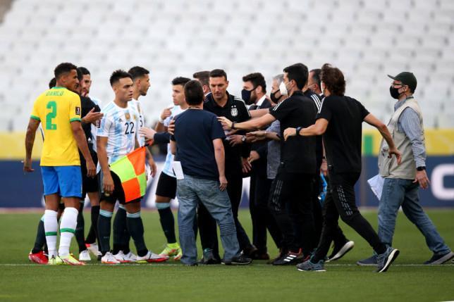 Haos la meciul BraziliaArgentina DSPul brazilian opreste meciul pentru carantinarea sportivilor