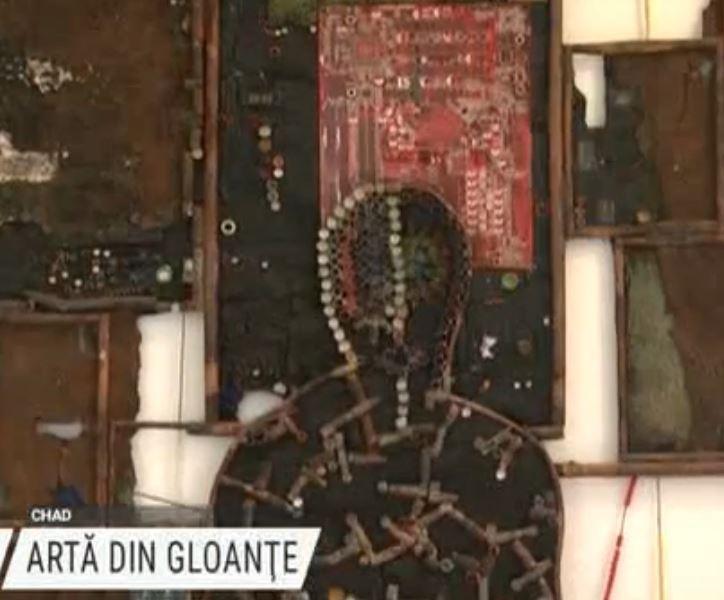 Artă din cartușele gloanțelor trase în Ciad