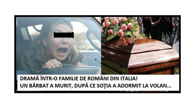 Un român din Italia a murit în accident după ce soţia care conducea a adormit la volan