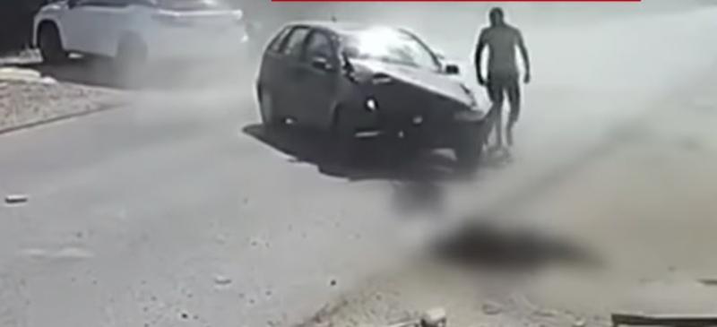 Șia făcut singur dreptate Un bărbat din Brăila la călcat cu mașina pe cel care ia bătut fratele