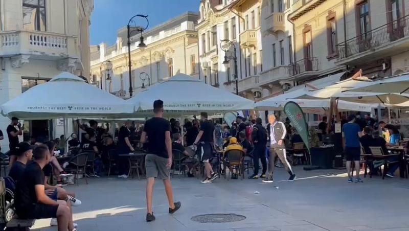 FCU Craiova  FCSB Oltenii au cântat imnul în oraș înainte de meci