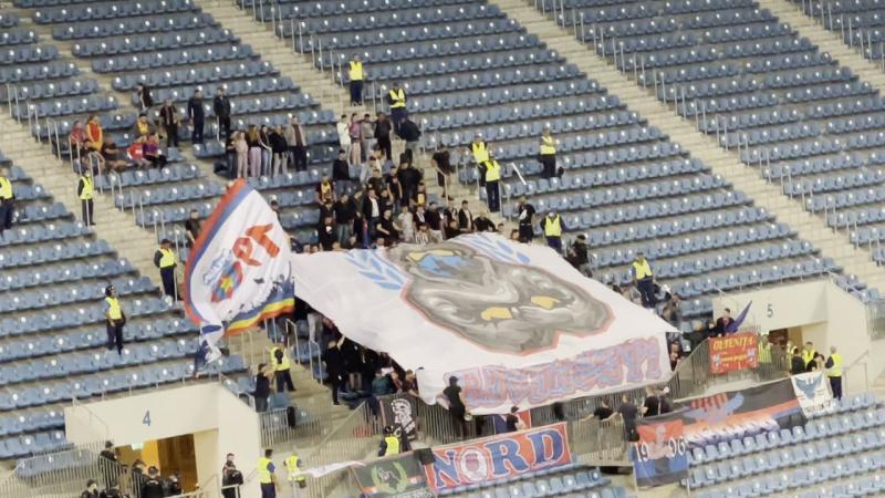FCU Craiova  FCSB Cum a arătat scenografia oaspeților la partida din Bănie
