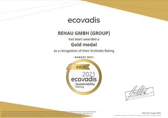 EcoVadis premiaza REHAU pentru sustenabilitatea lantului de aprovizionare
