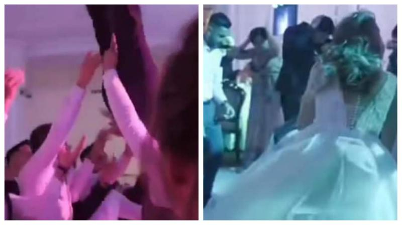Nuntă compromisă Un mire a ajuns la spital cu coloana fracturată după ce prietenii lau aruncat şi nu lau mai prins