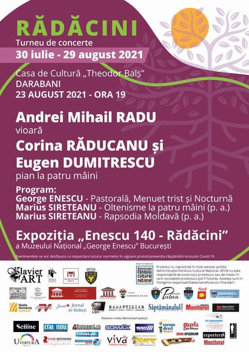 RĂDĂCINI turneul care aduce muzica românească mai aproape de tineri vine și la Darabani