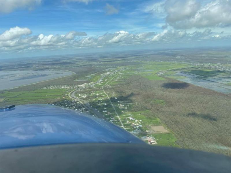 O deversare masivă de petrol descoperită întâmplător după uraganul Ida