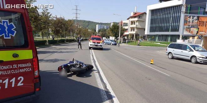 Motociclist și pasagerul său răniți în accident în Cluj impact cu o mașină condusă de un șofer din Vultureni