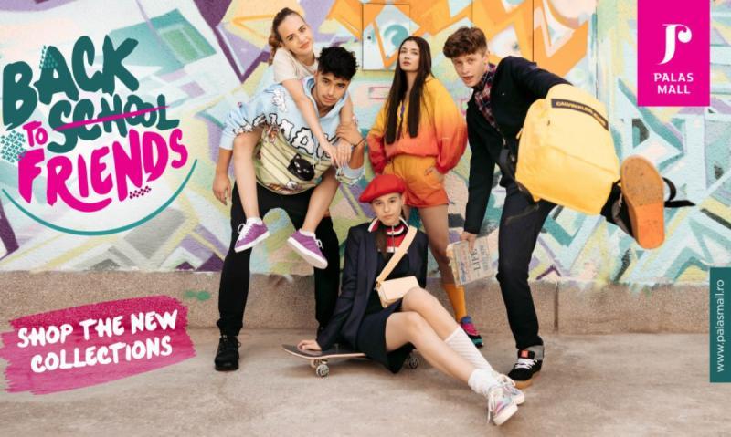 Back to school friends cu outfituri stylish de la brandurile din Palas