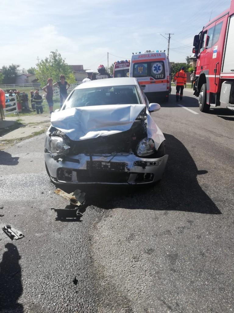 Accident rutier la Mihăești