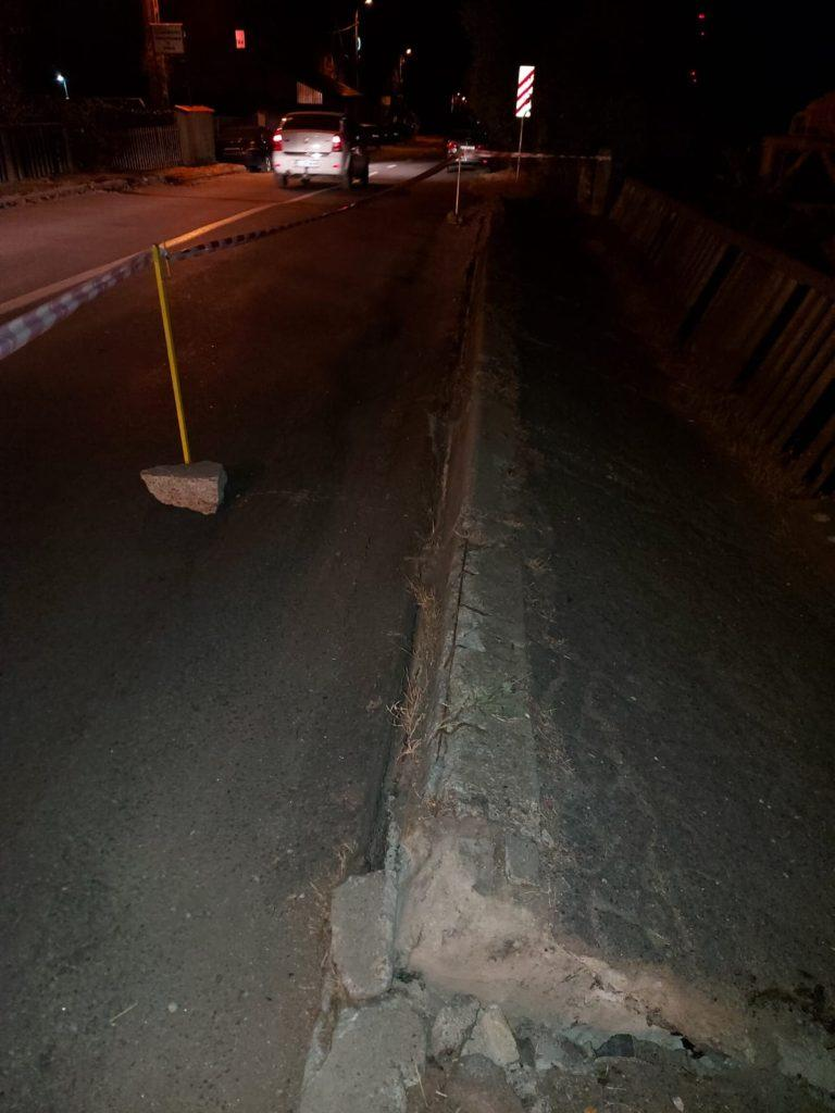 Pod afectat de trepidații la Târgu Jiu