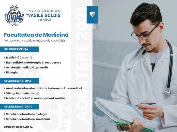 Un reper în domeniul educaţiei medicale Studenţi din peste 20 de ţări la Facultatea de Medicină din cadrul Universităţii de Vest Vasile Goldiş din Arad