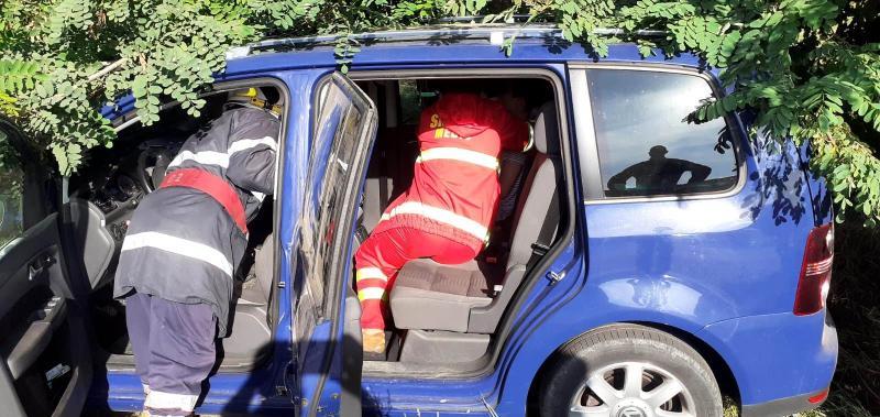 Accident rutier pe drumul spre Tămășeni două persoane au fost rănite