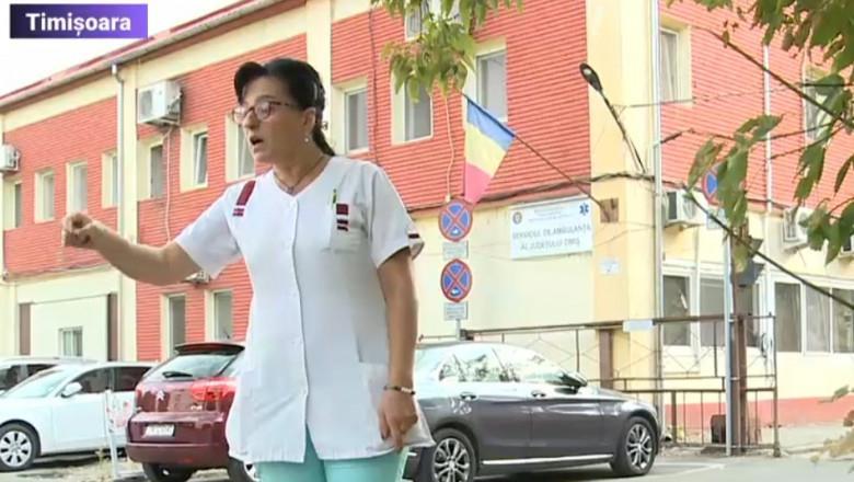 Scandal la Serviciul de Ambulanţă Timiş după ce o angajată nevaccinată care a refuzat testarea nu a mai fost primită la muncă