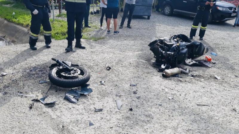 Accident cu motociclist rănit în Argeș